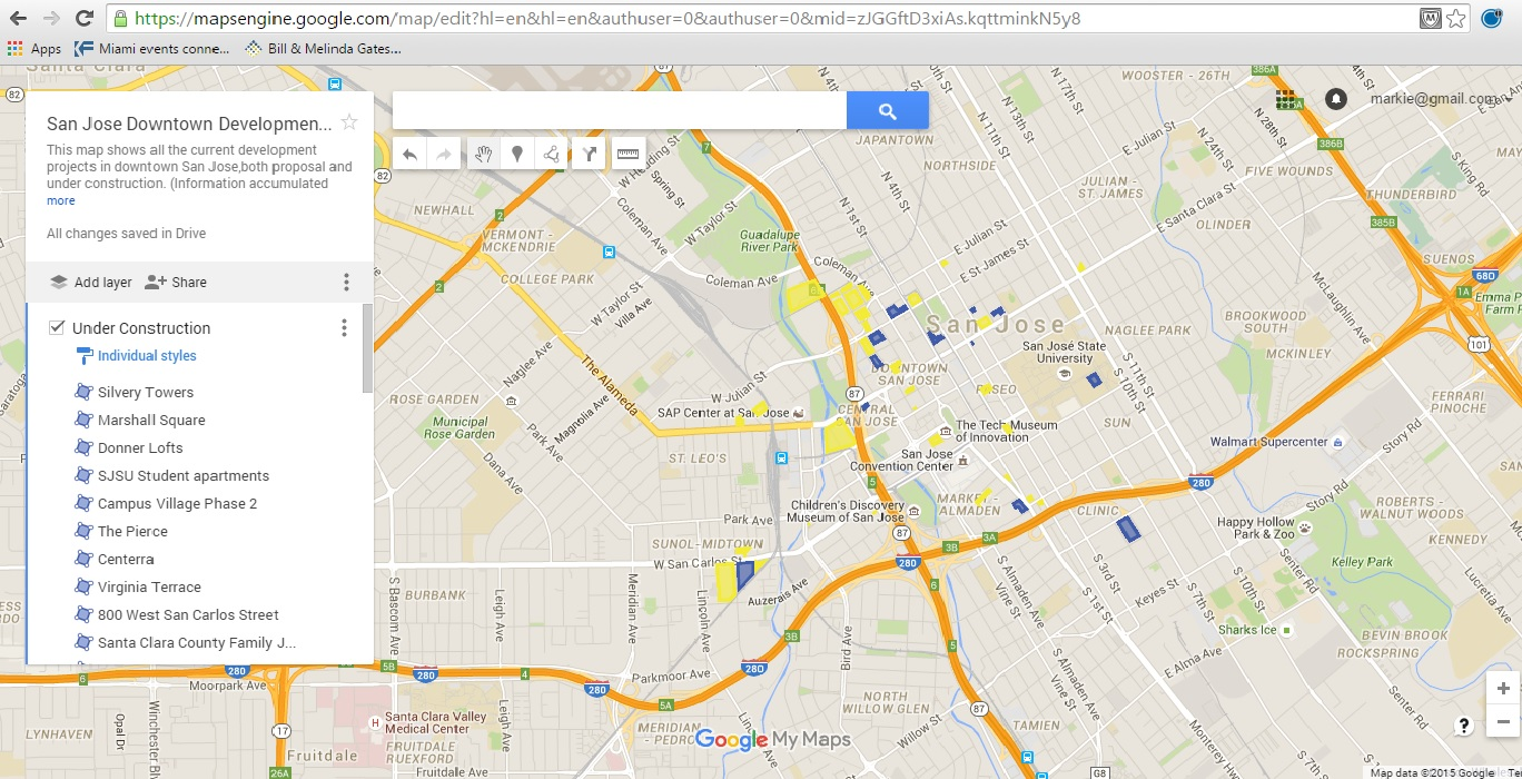 The Map: Newly updated Downtown San Jose Development map – Think ...