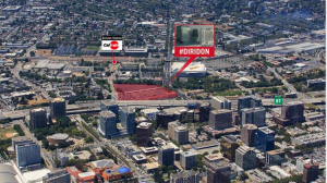 Proposed site in Diridon Station area, via SVBJ.