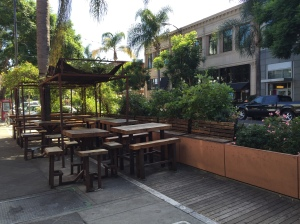 Parklet in front of Cafe Stritch and Anno Domini, SoFA