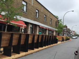 Parklet in Montreal
