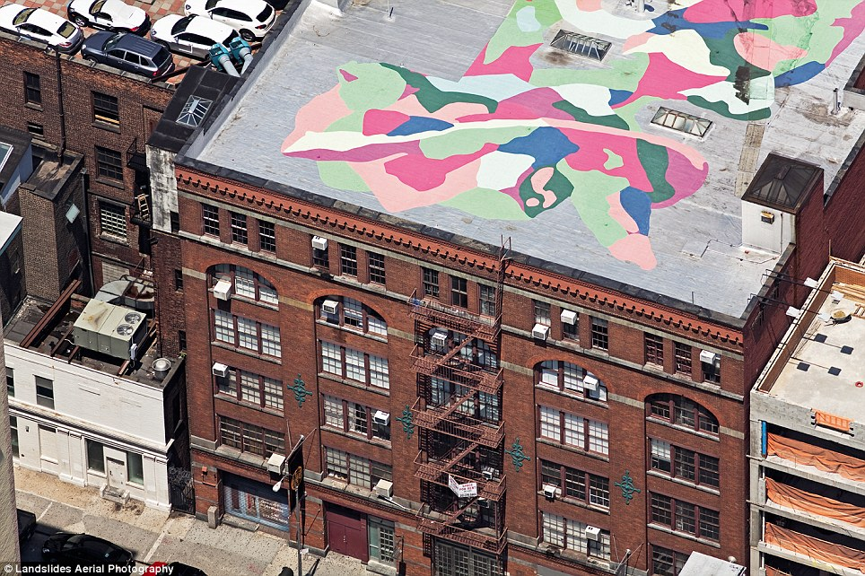 rooftop mural New York City